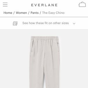 EUC Everlane - The Easy Chino -  size 2